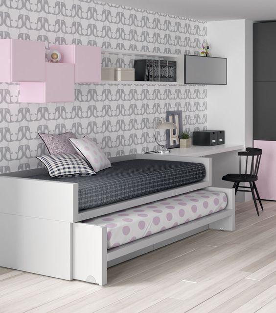 Las camas compactas convencionales habitualmente solemos encontrarnos con modelos en los que si la cama de arriba tiene 90x190 la cama inte...: