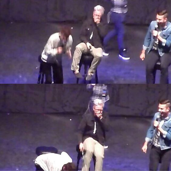 Tyler's reaction to the Troyler kiss, he's blushing so hard!