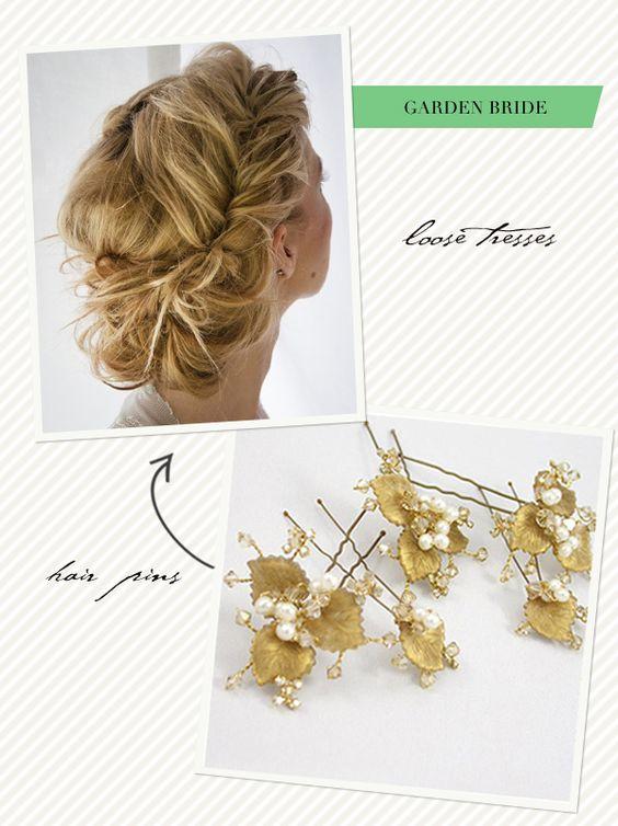Garden bride hairdo