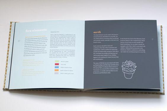 Feng Shui - guide book by Jordan Key, via Behance