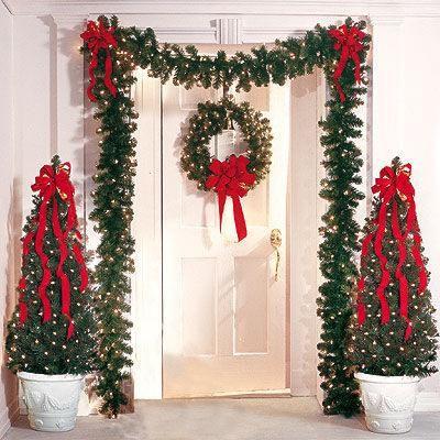 Decoracion Navideña Casa, Navidad Decoracion Puertas, Arboles De Navidad Decoracion, Arboles De Navidad 2016, Decoracion Escaleras, Decorar Casa Navidad,
