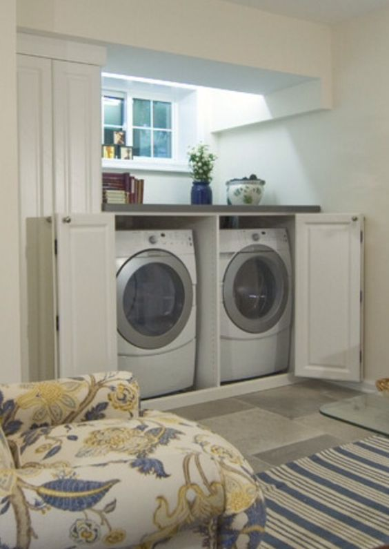 To Hide Washer And Dryer Diy Home Stuff Pinterest Extra Storage Washer And Dryer And The