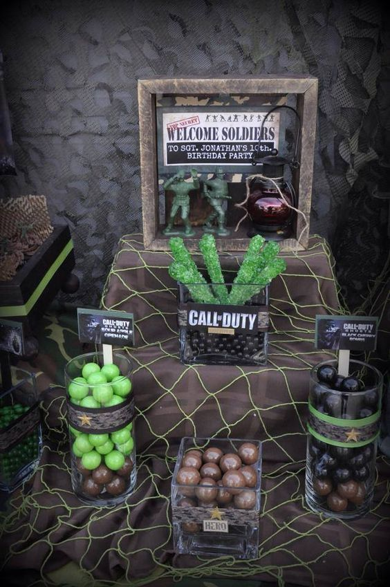 Camouflage party army and camouflage on pinterest for Army decoration ideas
