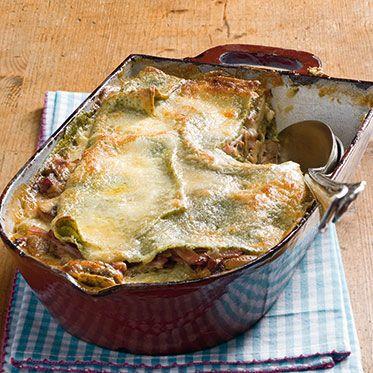 Grüne Lasagne mit Pilzen Rezept | Küchengötter