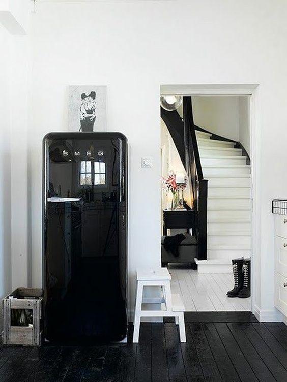 Frigo Smeg Nero | Livingroom | Pinterest | Design per la casa ...
