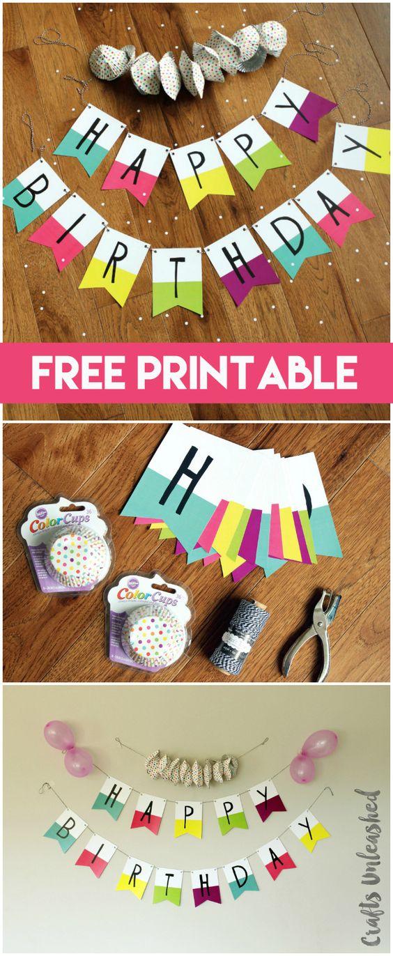 Free Printable Banner: Happy Birthday Pennants - Consumer Crafts