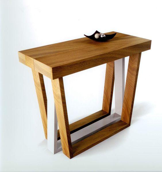 Mesa consola de comedor medidas 100 x 40 x 75 cm luego se for Comedor que se extiende