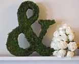 Moss Covered Monogram Letters - Set of TWO ( 18 inches )/ $88