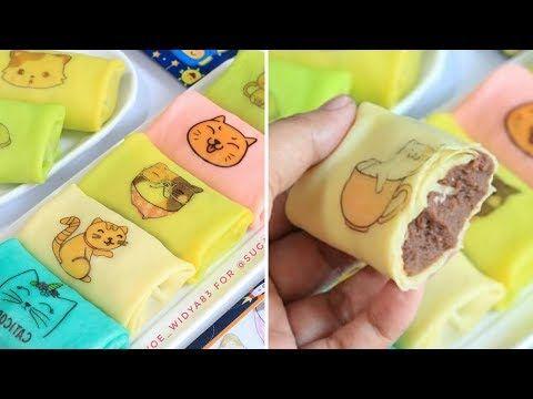 Harus Di Coba Resep Dadar Gulung Cantik Isi Vla Coklat Youtube Snack Box Snacks Traditional Food