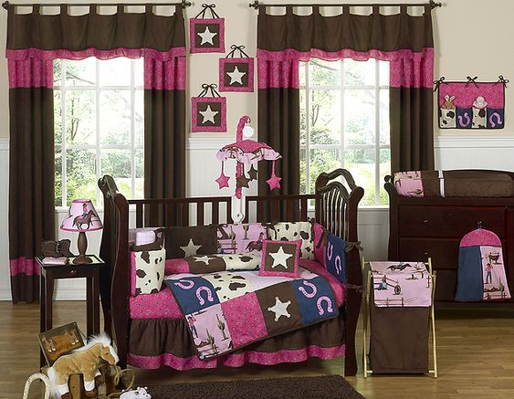 Cowgirl Nursery. Subtract some horse stuff and add some show cattle, turqouise, zebra print! :)