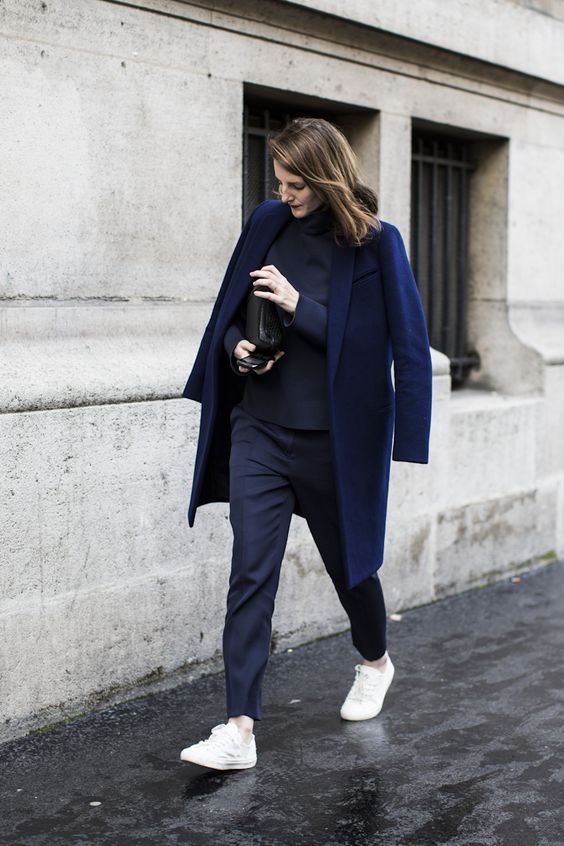 navy blue coat: