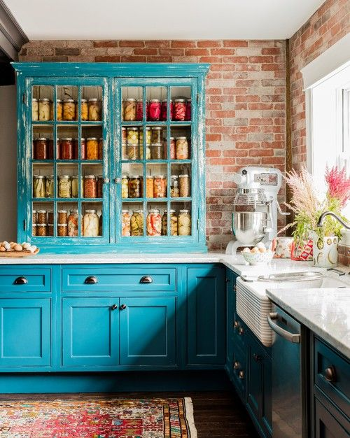 Glass Front Cabinets Popular Choices Town Country Living Farmhouse Kitchen Decor Turquoise Kitchen Kitchen Design Trends