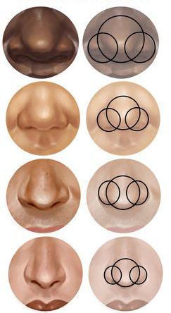 Beedraw   Recursos de diseño web, diseño gráfico, photoshop y bloggers: Tutorial como dibujar tipos de nariz