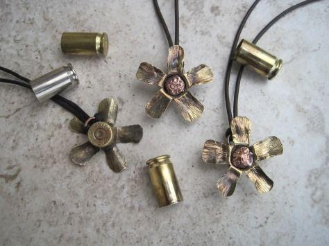 "The 45. Caliber ""Pistol Annie"" Flower Pendant."