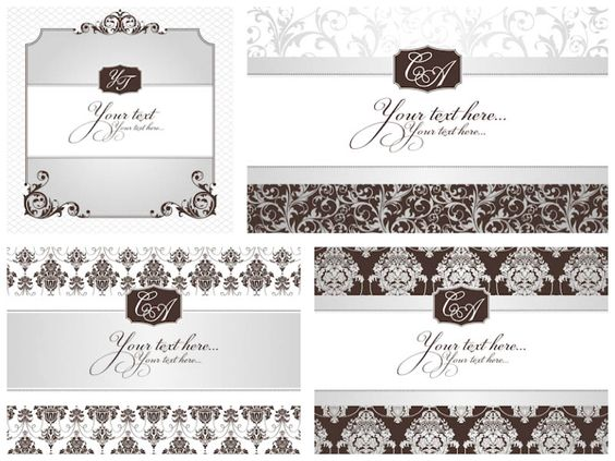 Vintage wedding invitations vector - free download Wedding - free invitation download
