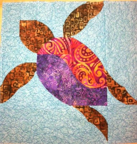 Sea turtle quilts, Turtle quilt and Turtles on Pinterest