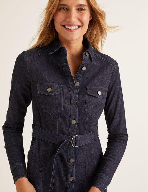 Lena Denim Shirt Dress - Rinse Indigo | Denim shirt dress, Shirt ...