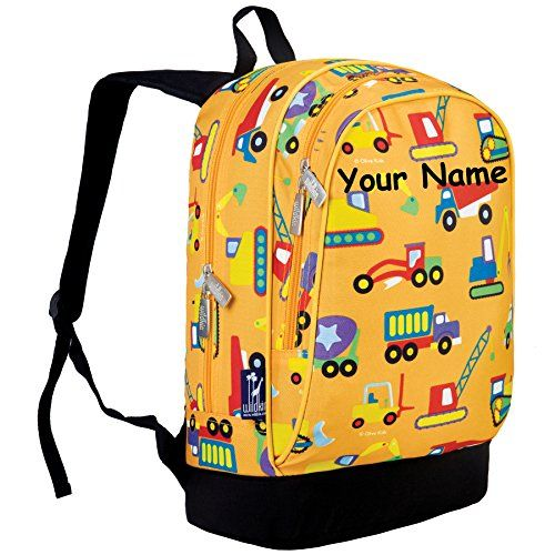 Personalized Olive Kids Construction Sidekick Backpack *** Check ...