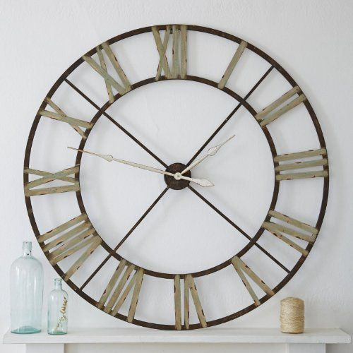 Handpicked | Belle Maison Large Iron Steeple Clock, 122cm by Beaumonde