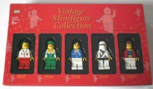LEGO Vintage Minifigure Collection V by LEGO. $28.00. Collect the latest vintage minifigures featuring all females from 1980, 1990, 1994, 1999, and 2002. Very rare and hard to find!