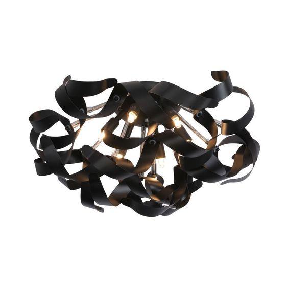 Grote Gerjan plafondlamp - Zwarte krullen - Lampgigant.nl