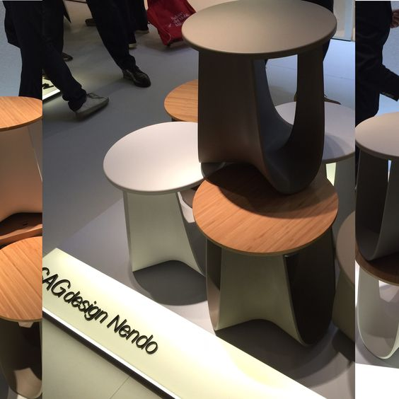 Salone del Mobile 2016 - great stools, place a few together for a cocktail table