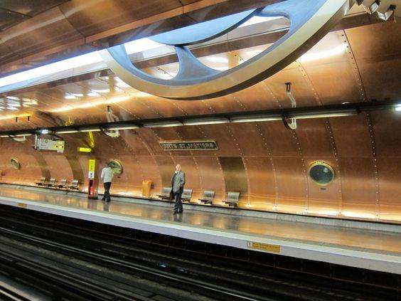 Metro entrance in Paris designed by Art Nouveau architect, Guimard ...