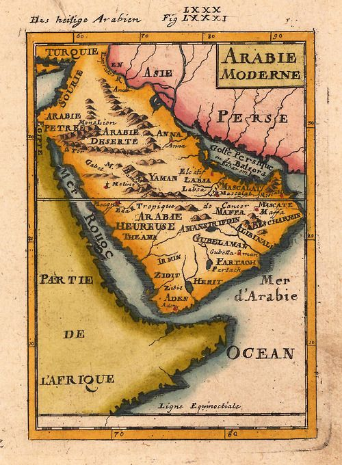 Map of Arabia 1719