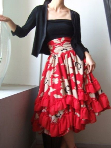 High Waisted Victorian Pleated Skirt (Very cute!)