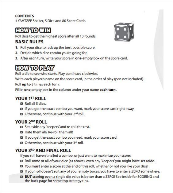 Image result for yahtzee sheets Four Clowns Project Pinterest - sample scrabble score sheet