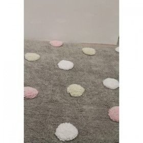 Tricolour Pink Dots rug by Lorena Canals | Nubie - Modern Baby Boutique