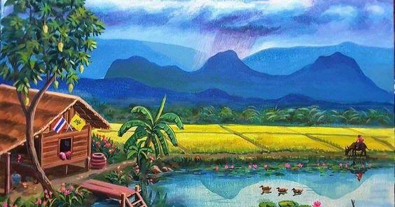 11 Pemandangan Alam Pedesaan Yg Indah Cara Menggambar Pemandangan Alam Yang Bagus Dan Mudah Seni Download 32 Tempat Wi Di 2020 Gambar Pemandangan Cara Menggambar