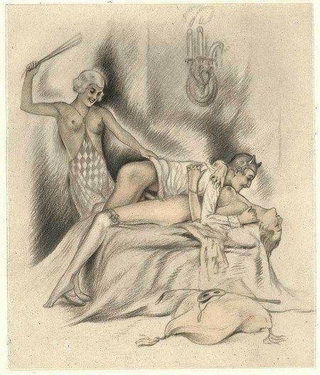 Vintage Erotic Drawing 6