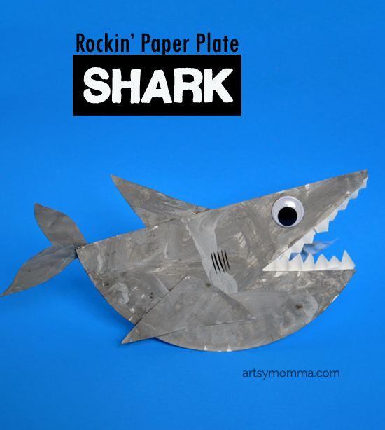 Paper plates Shark craft and Sharks on Pinterest