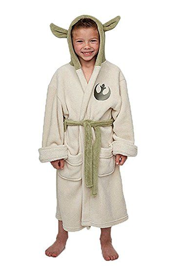 Star Wars Yoda Jedi Ears Fleece Bademantel Kinder Cosplay Kostüm