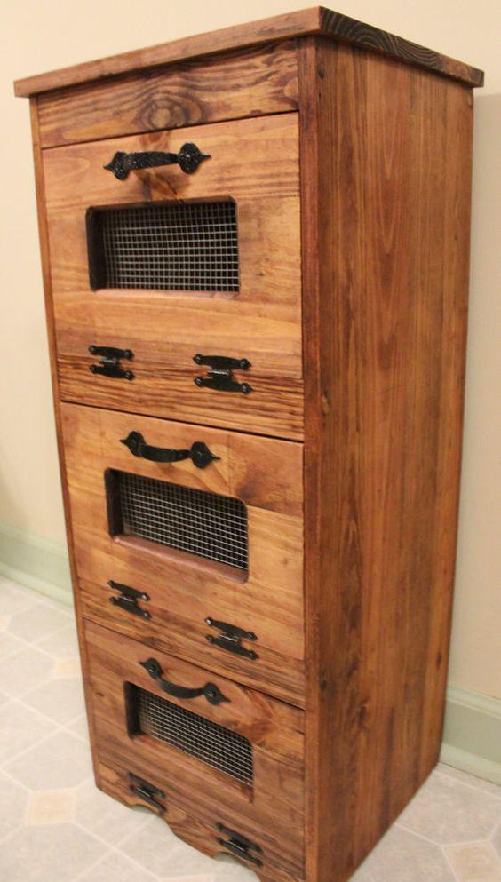 rustic vegetable bin potato storage cupboard primitive. Black Bedroom Furniture Sets. Home Design Ideas