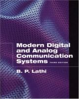 Modern digital and analog communication systems / B.P. Lathi. - BXJ RB Lat