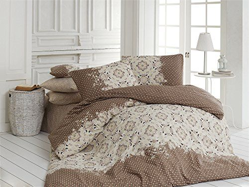 Dose Of Modern Elsa Brown Super King Quilt Cover Set Us Es 164nzq41274 Brown Cream Single Quilt King Quilt Quilt Cover Sets