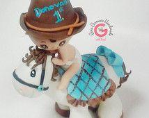 Soirée à thème Grange, douche de bébé de cow-boy, topper gâteau barnyard, dessus de gâteau blanc poney, Western fête d'anniversaire, douche de bébé de sports équestres, chapeau de Cowboy