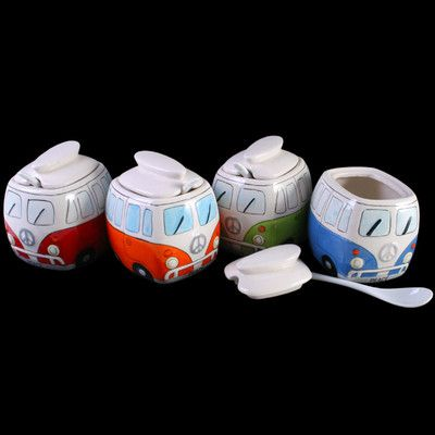 Sugar Bowl, Kitchen , Retro, Trendy, Vw Campervan, Splitscreen, Cool £4.99  | Bus Stuff | Pinterest | Vw Bus And Volkswagen