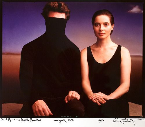 David Lynch and Isabella Rossellini, New York, 1986