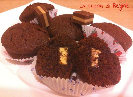 Muffin cioccolatosi con cuore di cremino