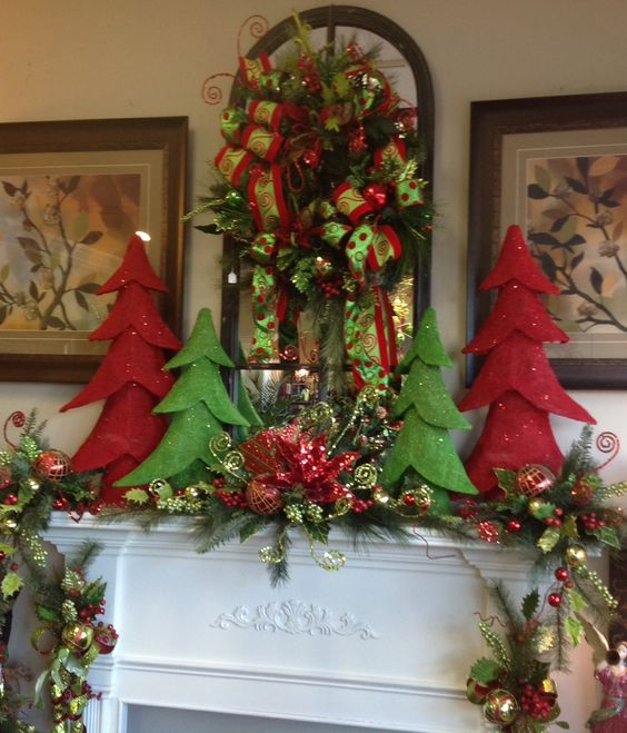 Mantel Arrangements: Christmas Floral Arrangements, Floral Arrangements And