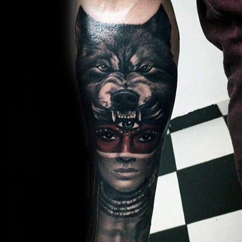 101 Best Wolf Tattoos For Men Cool Designs Ideas 2019 Update In 2020 Wolf Tattoos Men Wolf Tattoos Tattoos For Guys