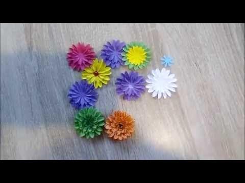 Stokrotki I Cynie Z Papieru Tutorial Youtube Floral Flowers Floral Rings