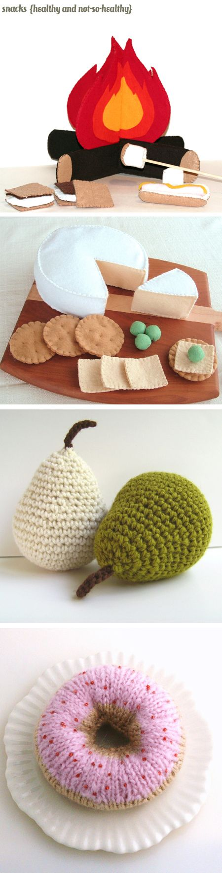 """Comfort Food exhibit from the Jealous Curator - """"Imagine if you will a spacious, white walled gallery with polished wood floors. Now, we just need the art… A knitted cupcake? Got it. A felt Egg McMuffin? Yep. Some crocheted sushi? You betcha!"""""""