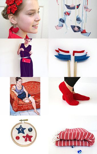 Red white and blue by Yael Scharaby on Etsy--Pinned with TreasuryPin.com