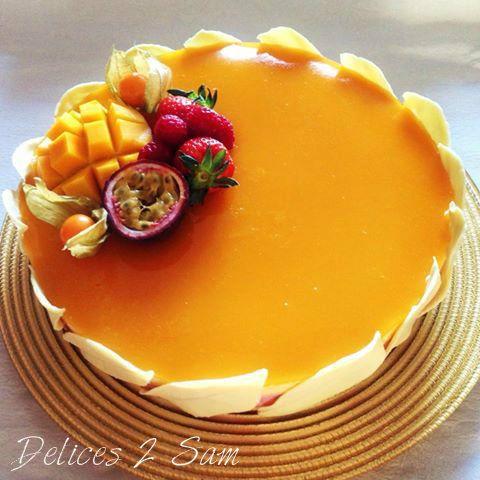 Bavarois framboise mangue passion sweet sweet sweet for Miroir framboise