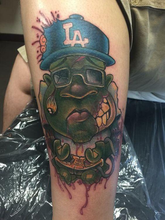 Jime litwak, new school tattoo, zombie tattoo, zombie gamer, tattoo