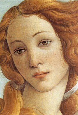 Sandro Botticelli's Venus (detail). It is said that 15th century beauty Simonetta Vespucci modelled, but historians doubt this. Simonetta was renowned for being the greatest beauty of the city of her age. She was only 22 at the time of her death, probably from pulmonary tuberculosis. The entire city of Florence was reported to mourn her death and thousands followed her coffin to its burial.: